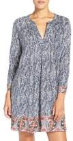 Lucky Brand Print Cotton Tunic Sleep Shirt