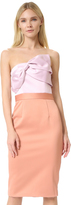 Cynthia Rowley Strapless Bow Dress