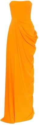 Alex Perry Reed strapless crepe gown
