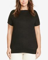 Lauren Ralph Lauren Plus Size Cap-Sleeve Sweater