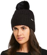 Michael Kors Thermal Cuff Hat with Fur Pom