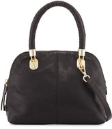 Cole Haan Benson Small Leather Dome Satchel Bag, Black