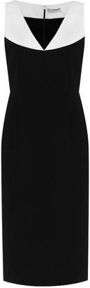 Givenchy Colorblocked cady midi dress