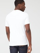 Pretty Green Thornley Paisley Logo Short Sleeve T-Shirt - White