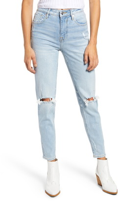 Vigoss Frankie High Waist Distressed Ankle Straight Leg Jeans