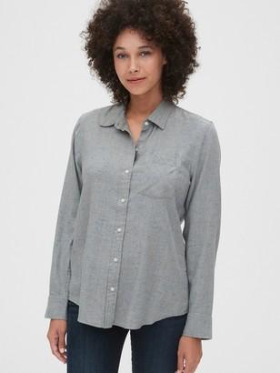 Gap Speckled Flannel Shirt