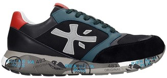 Premiata Zaczac Sneakers In Black Suede And Leather