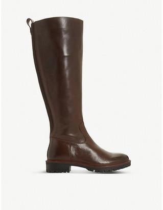 Bertie Tallow leather knee-high boot