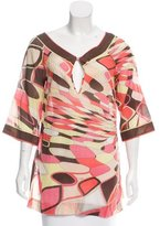 Emilio Pucci Signature Print Three-Quarter Sleeve Tunic