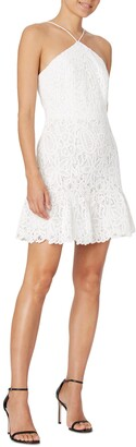 Dyan Crochet Embroidered Halter Neck Cotton Dress