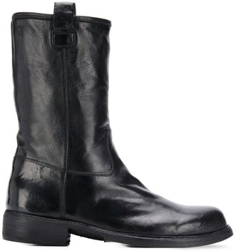 Officine Creative Wrinkled-Effect Ankle Boots