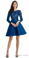 Morrell Maxie Long Sleeve Rhinestone Fit and Flare Cocktail Dress