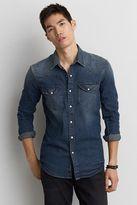 American Eagle Outfitters AE Flex Denim Western Shirt