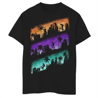 Fifth Sun Boys 8-20 Extreme Silhouette Panels Graphic Tee