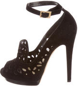 Jimmy Choo Laser Cut Platform Pumps