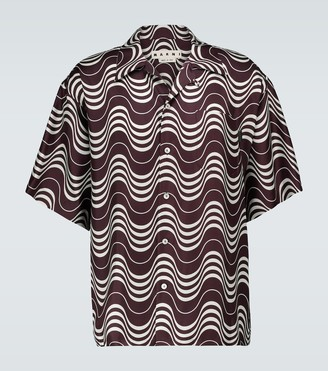Marni Psycho Wave printed silk shirt