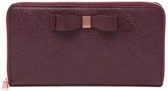 Ted Baker Bow Zip Around Matinee Leather Wallet
