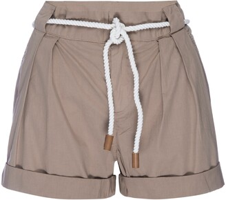 Frame Tie Belt Cuffed Shorts