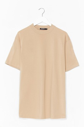 Nasty Gal Womens If It Were Up to Tee - Beige - XL