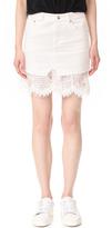 McQ by Alexander McQueen Alexander McQueen Short Hybrid Lace Skirt