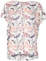 Izabel London Oversized Butterfly Print Top