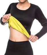 SEXYWG Womens Neoprene Long T-shirt Sweat Sauna Hot Body Shaper for Weight Loss