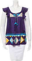 Anna Sui Silk Patterned Top