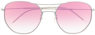 Tommy Hilfiger Pink-Tined Round Sunglasses