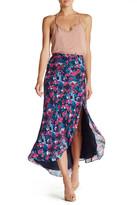 Haute Hippie Silk Side Slit Hi-Lo Skirt