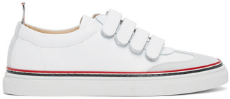 Thom Browne White Strap Low-Top Trainers