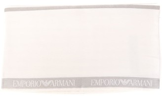 Emporio Armani Double Patterned Scarf Color Off-white Zinc