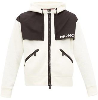 MONCLER GRENOBLE Hooded Logo-print Fleece Ski Jacket - Cream