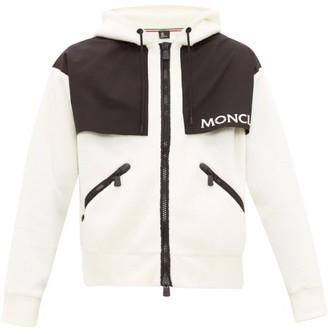 Moncler Hooded Logo-print Fleece Ski Jacket - Mens - Cream