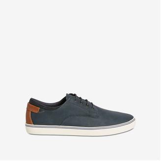 Joe Fresh Men's Faux Leather Sneakers, Navy (Size 10)