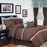 Lavish Home Briella Brown 25-Piece King Comforter Set