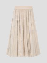 DKNY Pure Floaty Nylon Pleated Skirt