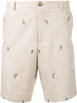 Kenzo badge embroidered chino shorts