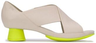 Camper Alright contrast heel sandals