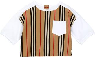 Burberry Girl's Aisha Icon Stripe Panel T-Shirt
