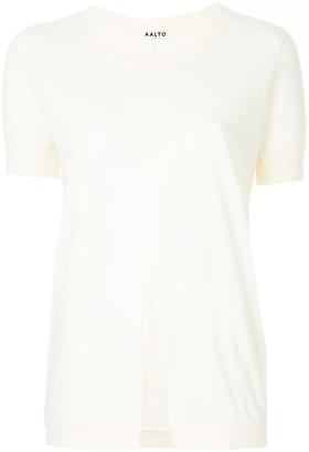 Aalto fine knit slit front T-shirt