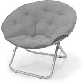 Orren Ellis Overmere Microsuede Saucer Kids Chair