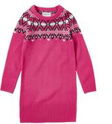 Cherokee 'Fashion Hanging' Long-Sleeve Fair Isle Sweater Dress