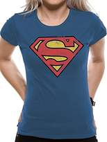 Superman Women's Vintage Logo T-Shirt,XX-Large