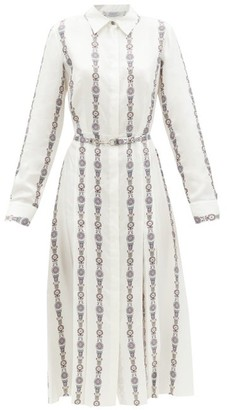 Gabriela Hearst Jane Floral-print Silk-twill Shirt Dress - White Multi