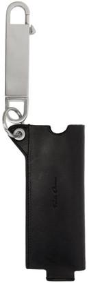 Rick Owens Black Leather Jumbo Lighter Case Keychain