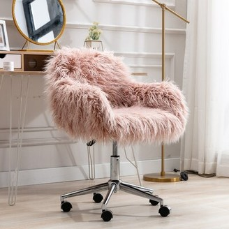 Everly Quinn Andree Task Chair Upholstery Color: Coral Powder