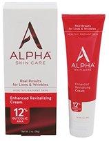Alpha Skin Care Enhanced Revitalizing Cream 12% Glycolic AHA, 2 Ounce