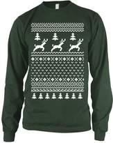 Crazy Dog T-shirts Crazy Dog Tshirts Green LONG SLEEVE Ugly Christmas Sweater T Shirt Funny Holiday Shirt