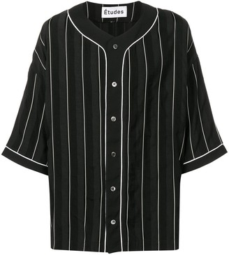 Études Pinstriped Baseball Shirt