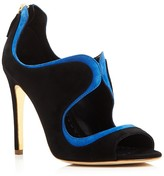 Rupert Sanderson Maralyn Peep Toe Cutout High Heel Pumps